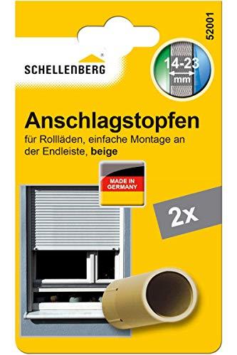 Schellenberg 52001 Rolladenstopper Anschlagstopfen für Rollladen 2 Stück - Doppelpack, Beige