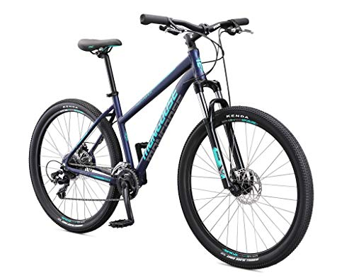 Mongoose Switchback Sport Adult Mountain Bike, 16 Speeds, 27.5-inch Wheels, Womens Aluminum Small Frame, Navy