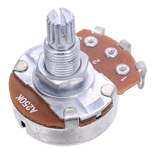Potenciometro Logaritmico A250k Para Guitarra Eléctrica ó Bajo. Guitarist House