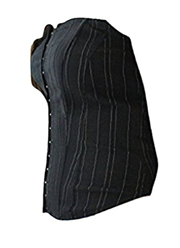 Clockhouse Damen Top, Gestreift Schwarz Black (White Pin Stripe) Gr. UK 14, Schwarz - Black (White Pin Stripe)