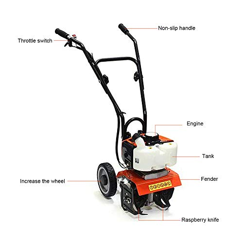 For Sale! FASTTOBUY 52CC to 63CC Outdoor Power Tools Gas Tiller 1.9KW to 2.2KW Garden Cultivator (13...