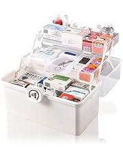 ONLYNESS 救急箱 薬箱 薬ケース 3層折り畳み式 かわいい ツールボックス 裁縫箱 工具箱 道具箱 大容量 災害用 多機能収納ケース