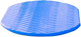 Pool Mate Oval Foam Cushion for Poolside Lounging, Bronze and Blue  2-Pack