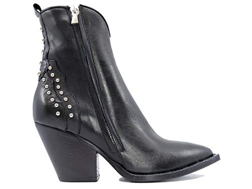 CURIOSITE' 1406 - Botas de piel para mujer, color negro Negro Size: 35 EU