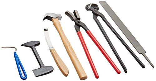 PFIFF 005102 Hufbeschlagset mit Tasche, Hufbeschlag Werkzeug Set, 7 Teile