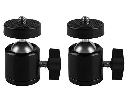 2 Pcs Tripod Mini Ball Head for HTC Vive/Vive Pro Base Station,for Oculus Rift Sensor,for Lighthouses,Camera Camcorder, MDW Holder for HTC Vive