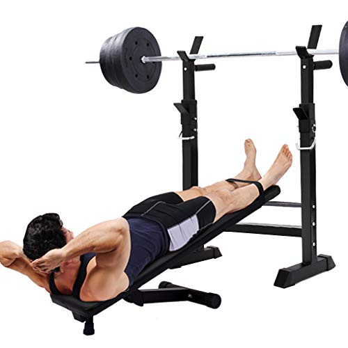 Dr.Home Professional Adjustable Squat Racks Barbell Free Bench Press Olympic Weight Benches Dumbbell Racks Multi Design from Beginner to Master