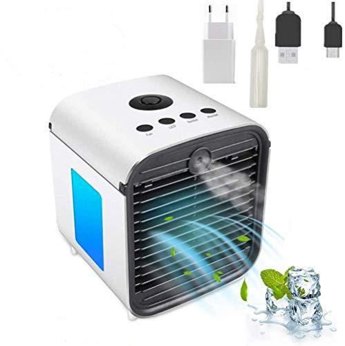 Air Portable Cooler 3 in 1 Mini Mobile Klimaanlage Luftkühler, Luftbefeuchter und Luftreiniger, Tragbare Klimaanlage Luftkühler für Büro,Leakproof, New Filter, Ohne Batterie(Upgrade der 5. Generation)