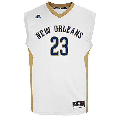 NBA Men's New Orleans Pelicans Anthony Davis Replica Player Home Jersey, Medium, White