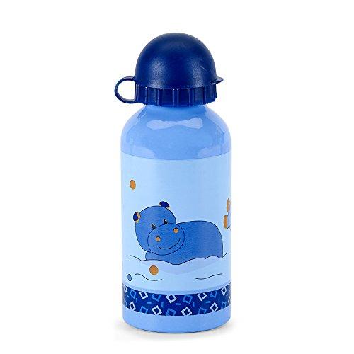 STERNTALER Gourde en Aluminium Bleu Motif Norbert L'Hippo