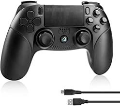 PS4 Controller Number-one PS4 Game Controller Wireless Bluetooth Controller for Playstation 4 Dual Vibration Shock Joystick Gamepad for PS4/PS4 Slim/PS4 Pro and PS3 / PC(Windows 7 / 8 / 10), Black