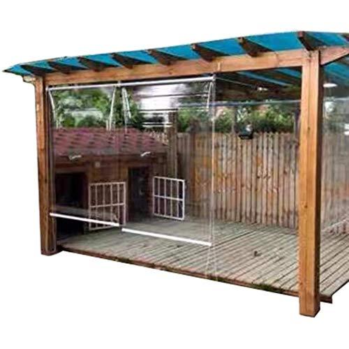 HYDT Persianas Enrollables Transparentes a Prueba de Polvo con Aislamiento de Pérgola, Persiana de PVC de 80/90/100/120/140 Cm de Ancho para El Dormitorio de La Cocina (Size : 100×140cm)