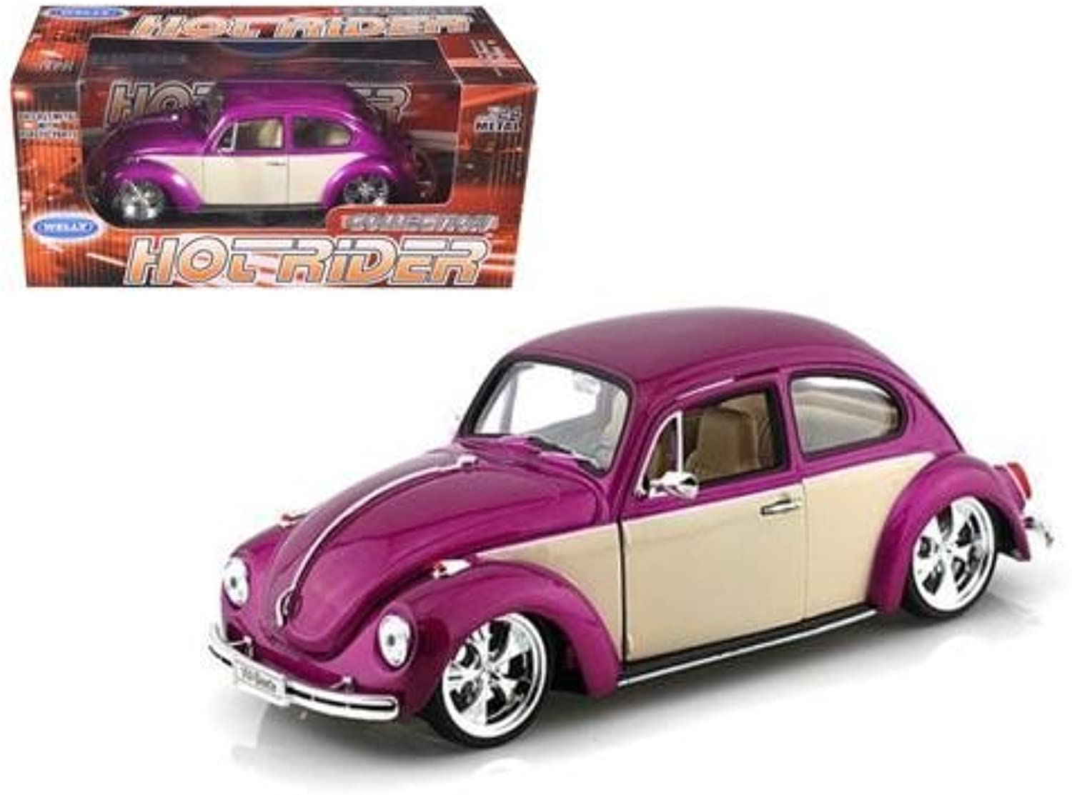 Welly Wholesale Volkswagen Beetle Low Rider Purple 1 24 Diecast Car Model