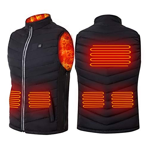 Konweda men's Heated Vest, USB Charging Lightweight Heated Jacket for Women Men Skiing Fishing Hunting(Battery Not Included)