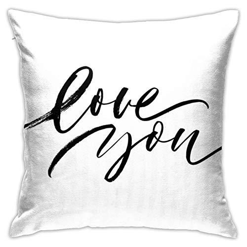 Love You - Fundas de almohada cuadradas con impresión de doble cara, 45,72 cm y 76,2 cm
