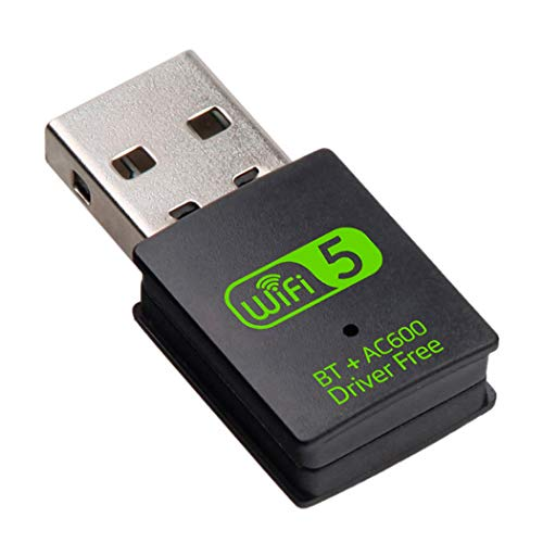 Adaptador USB WiFi Bluetooth - Tarjeta de Red WiFi Doble Banda 2.4Ghz/5.8Ghz + Bluetooth 4.2 Dongle Receptor WiFi para PC Pincho Driver Free