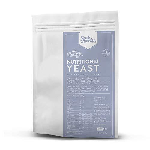 Flocons de levure nutritionnelle B12 250 g   JARDIN DU SUD   Vitamine B12   Toutes les vitamines B   50% de protéines   Végétalien   Sans gluten   Sans produits laitiers   Sans sucre ajouté