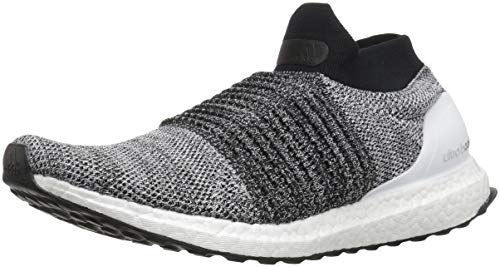 adidas Men's Ultraboost Laceless,white/white/black,11 M US