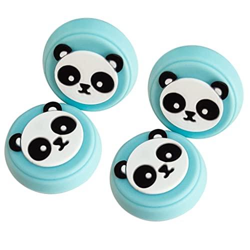 YUYAN Cubierta de silicona con diseño de panda, 4 unidades, para controlador de pulgar y agarre de consola de juegos, cubierta de joystick