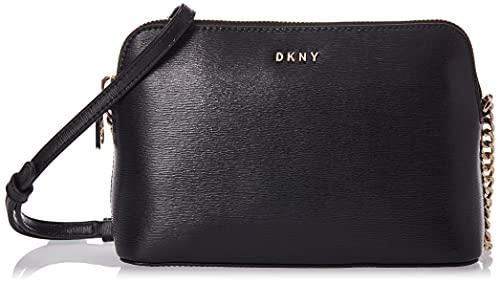 DKNY Women's R83e3655 Crossbody, Black Gold, One Size