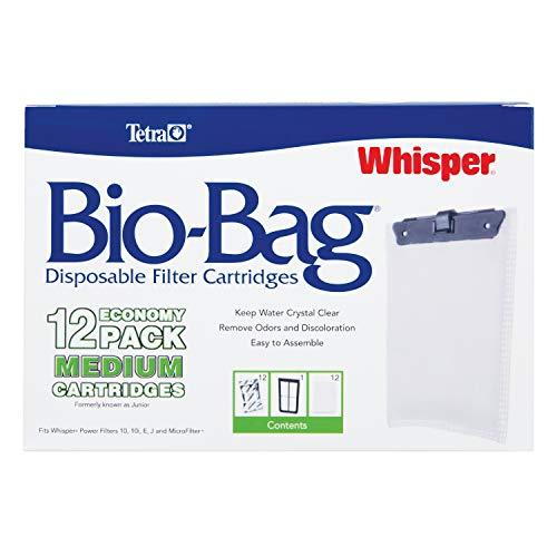 Tetra Whisper Bio-Bag Disposable Filter Cartridges 12 Count, For aquariums, Medium, Unassembled