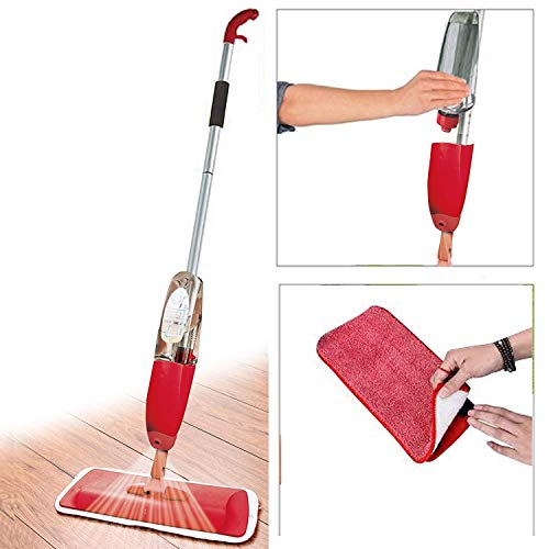 AAROHI ENTERPRISE Aluminium Spray Mop Set with Microfiber Washable Pad, Best 360 Degree Easy Floor Cleaning for Home & Office