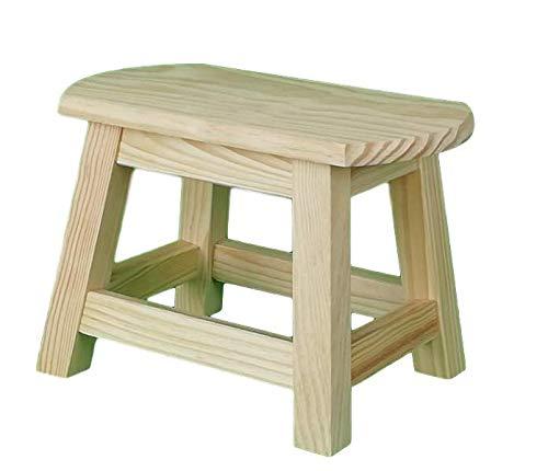Taburete madera maciza. En crudo, para decorar. En madera de pino macizo. Medidas (ancho/fondo/alto): 32 * 22 * 23 cm.