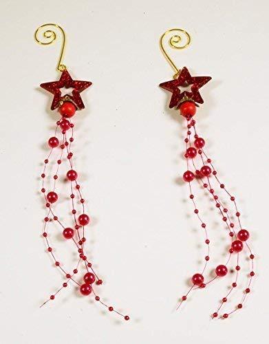 CaPiSo/® Bracelet Tendance avec Perles et Papillons 3 et 12 mm Rouge 10 m