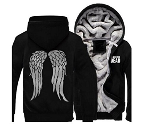 The Walking Dead Daryl Kapuzenjacke Dixon Flügel Hoodie Pullover Cosplay Kostüm Winterjacke