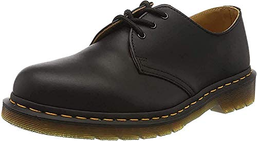 Dr. Martens 1461, Unisex-Erwachsene Derbys, Schwarz (Black Smooth/Orange), 43 EU