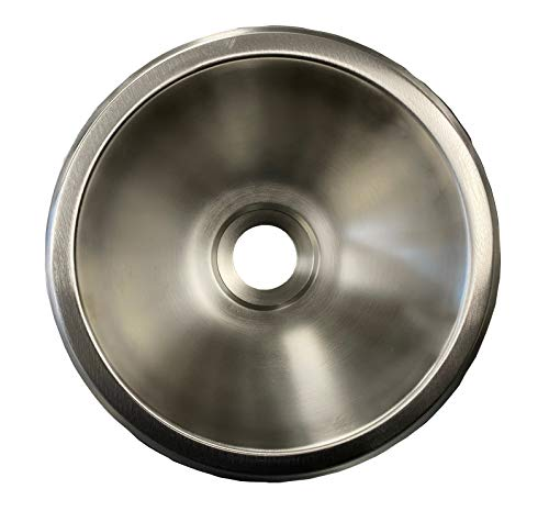 """Class A Customs   10"""" Round Stainless Steel Sink   300 Series Stainless Steel   RV Camper Motor Home Sink   Concession Sink   22 Guage"""
