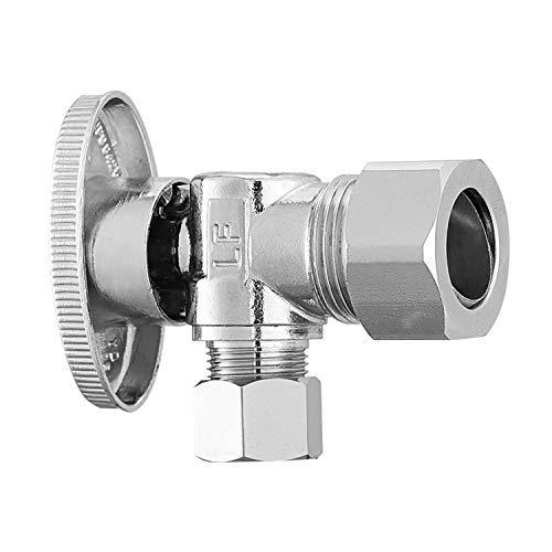 Monster & Master Brass Angle Stop Valve Shut Off Quarter Turn Water Sink Bathroom Toilet Kitchen Shower Plumbing (1 PC-1/2