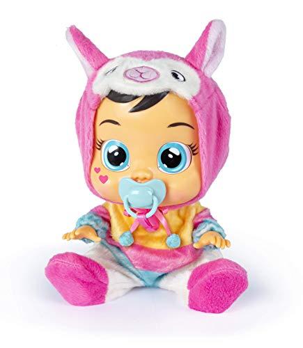 Bebés Llorones Lena - Muñeca interactiva que llora de verdad con chupete y pijama de Lana