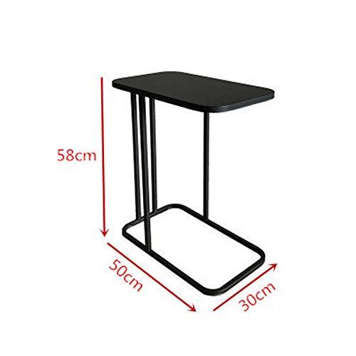 Tables FEI - Bureau d'ordinateur de Chevet en marbre Simple pour Tous Les postes de Travail (Couleur : Noir)
