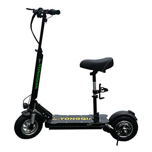 Scooter eléctrico - Plegable portátil, 1000W Hasta 120 millas de largo y 55...