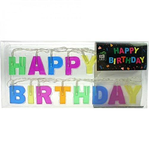 NOOR® 88026 Lichterkette 13LEDs Happy Birthday 1,5m