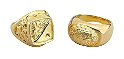 Fancy Dress Rings Gold Sovereign style One Size The Perfect Costume Accessory Includes Rings Gold Sovereign style Bristol Novelty Reference BA644 ring to be shipped in 24 quantities and not both rings