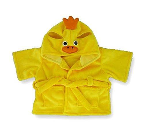 Build your Bears Wardrobe Teddybär-Kleidung, Enten-Bademantel in gelb, 38 cm
