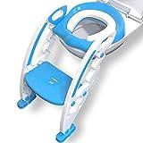 MAEY Kinder Toilettensitz mit Treppe in Blau Hhenverstellbar Rutschfest Spritzschutz Klappbar |Toilettentrainer |Tpfchen |Klositz|Toilettenaufsatz