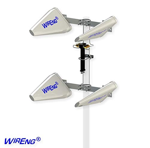 WideAnt4-X-MIMO Quad Antenna for Bluegrass Cellular Treswave Tresmate 4G Router True MIMO Wide Band ±45° Polarizations WirEng UWBA Technology