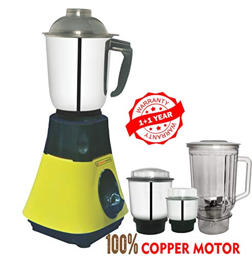 LONGWAY® Super DLX 750 WATT 4 JAR Mixer Grinder Powerful Copper Motor...