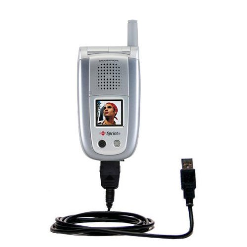 Classic Straight USB Cable Suitable for The Sanyo MM-8300 MM-9000 with Power Hot Sync and Charge Capabilities - Uses Gomadic TipExchange Technology