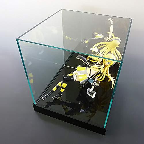 【台座 = 落とし込みタイプ 黒 30mm】 ガラス色コレクションケース 背面ミラー W200mm H150mm D150mm