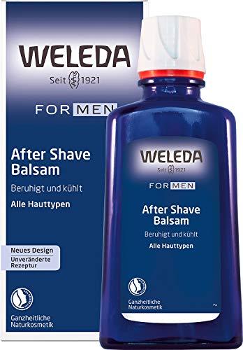 WELEDA FOR MEN After Shave Balsam, erfrischendes Naturkosmetik Balsam zur Pflege und Beruhigung der Haut nach der Rasur, Lotion für reichhaltige Pflege und Schutz vor dem Austrocknen (1 x 100 ml)