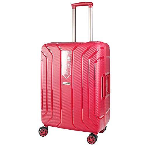 Dfghbn Maleta de viaje para equipaje de embarque de 25 pulgadas para estudiante Pp Business Trolley Case Mute Caster Travel Luggage Lock Box (Color: Rojo, Tamaño: 25 pulgadas)