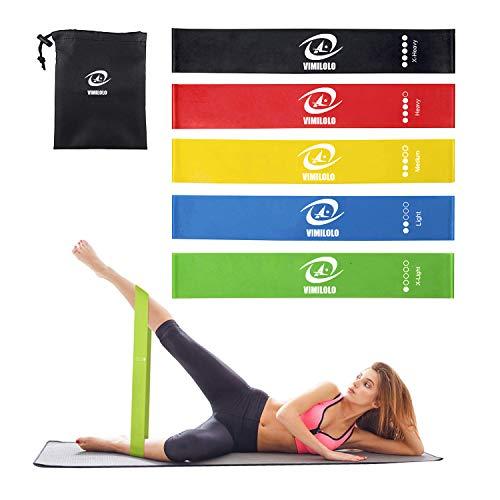 Fasce per esercizi ad anello di resistenza con guida per le istruzioni, Home Fitness, Fasce per allenamento in lattice naturale per gambe e Butt Yoga e altro 5 Set