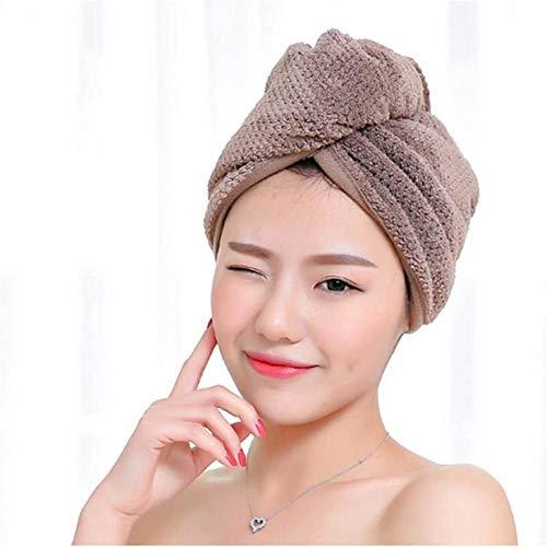 generio Serviettes à séchage Rapide Tissu en Microfibre Chapeau de Cheveux secs Bonnet de Douche Lady Turban Serviette de Bain Absorbant