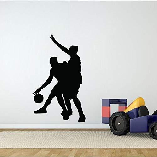 Baloncesto Personalizado Pvc Pegatinas De Pared Salón Dormitorio 38X63Cm