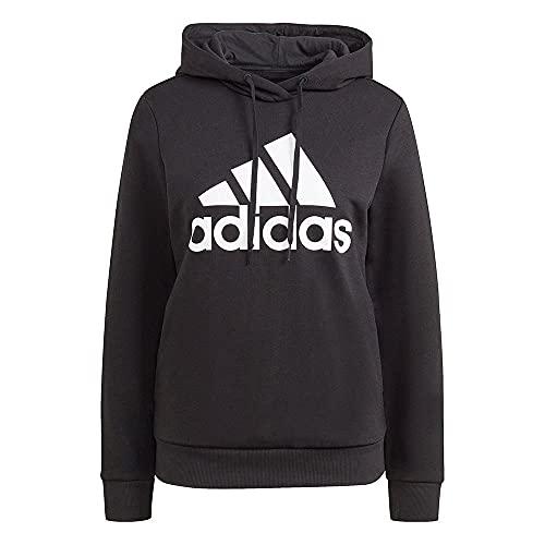 adidas Damen W Bl Fl Hd Kapuzenpullover, Schwarz/Weiß, L EU