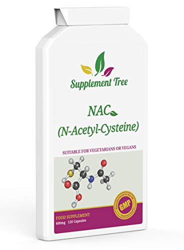 NAC N-acétyl-cystéine 600 mg 120 gélules | Supplément de soutien de la fonction hépatique et pulmonaire | Végétaliens et végétariens bienvenus | Fabriqué au Royaume-Uni